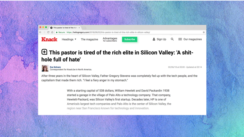 This pastor is tired of the rich elite in Silicon Valley
